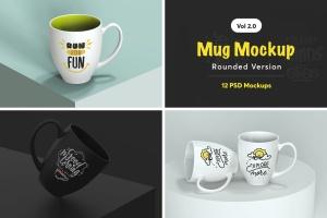 马克杯外观图案设计预览样机v2 Mug Mockup 2.0插图1