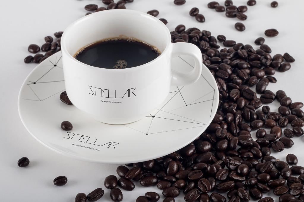 咖啡瓷杯咖啡品牌VI设计样机03 Coffee Cup Mockup 03插图