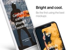高质量黑色iPhone X设备样机模板 HERO Phone X Mockups插图8