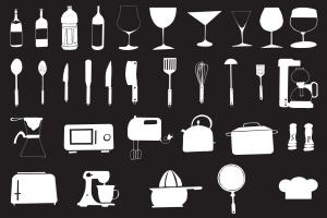 30+手绘厨房用具图案剪贴画素材合集v2 30+ Hand Drawn Kitchen Cliparts Ver. 2插图3