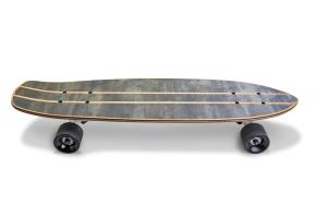 滑板顶部设计正面预览图样机02 Skate_Board-02_Mockup插图5