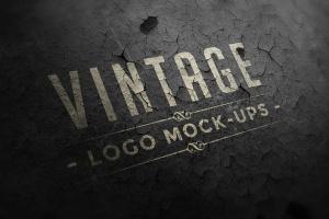 复古Logo墙体展示样机模板合集 Logo Mock-ups Vol.1插图2