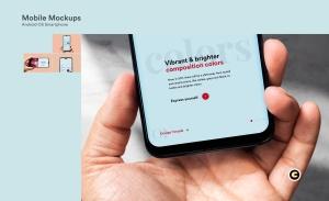 滴水屏智能手机屏幕预览样机模板 Mobile Mockups插图3