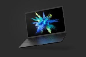 15寸MacBook Pro笔记本电脑屏幕演示样机模板 Clay MacBook Pro 15″ with Touch Bar Mockup插图5