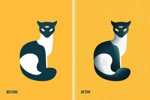用于Illustrator的复古明暗效果纹理&噪点笔刷 Shader Brushes for Illustrator插图(7)