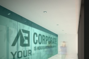 3D企业logo墙壁艺术样机模板 Corporate Logo Mockups V1插图3