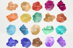 精美水彩插画设计素材包 for AI Watercolor KIT for Illustrator插图7