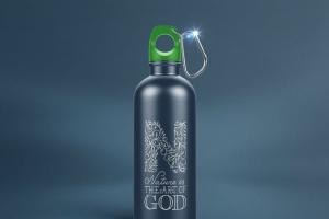 金属运动水杯外观样机模板 Reusable Water Bottle MockUp插图6