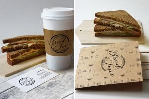 咖啡馆品牌VI设计样机模板 Sandwich Cafe Mockup插图5