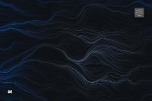 10款高分辨率抽象数流体线条PS笔刷 Digital Perlin Flow Fields Photoshop Brushes插图7