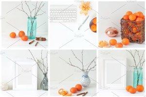 冬天简约风格办公场景背景 Tangerine Winter Bundle插图3