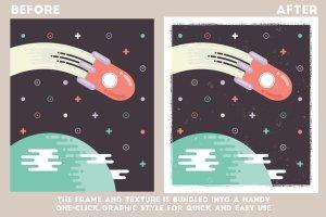 创意海报印刷效果AI笔刷 Poster Press – Screen-Print Creator插图3