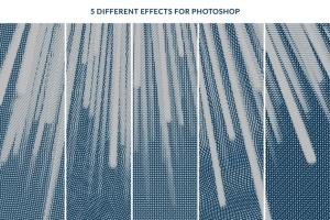 一键生成怀旧老照片效果PSD分层模板 Worn Press Photoshop Effects Kit插图2