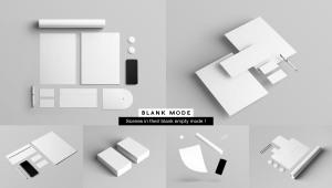 企业品牌VI视觉设计展示办公用品样机套件PSD模板 Stationery Branding & Identity Mockup – PSD插图10