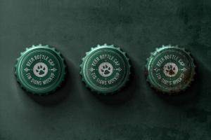 瓶盖金属锡标Logo设计效果图样机模板 Bottle Cap Metal Tin Signs  Mockup插图3