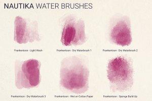 手绘插画概念艺术家Procreate笔刷[水墨/马克笔/水彩] Nautika – Brush Pack for Procreate插图(6)