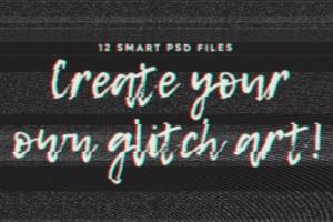 复古老电视失真信号故障PS字体样式Vol.II Photoshop Glitch Text Effects Vol. II插图2