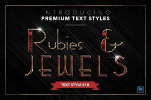 20款红宝石&珠宝文本风格的PS图层样式下载 20 RUBIES & JEWELS TEXT STYLES [psd,asl]插图19