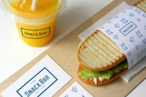 三明治咖啡馆食品品牌样机模板 Sandwich cafe Mockup插图1