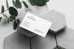 六边形图形设计品牌VI视觉设计效果图样机套件v2 Hexamed Branding Mockup插图6