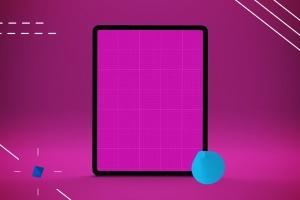 iPad Pro平板电脑UI设计屏幕预览效果图样机 Abstract iPad Pro Mockup插图11