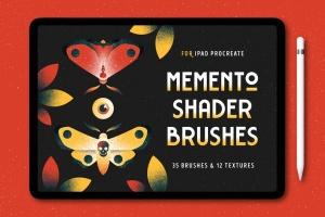 平板电脑手绘创造散点阴影效果处理Procreate笔刷下载 Shader Brushes for Procreate插图1