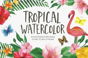 水彩数码绘画必备PS笔刷 Watercolor Brushes for Photoshop插图1