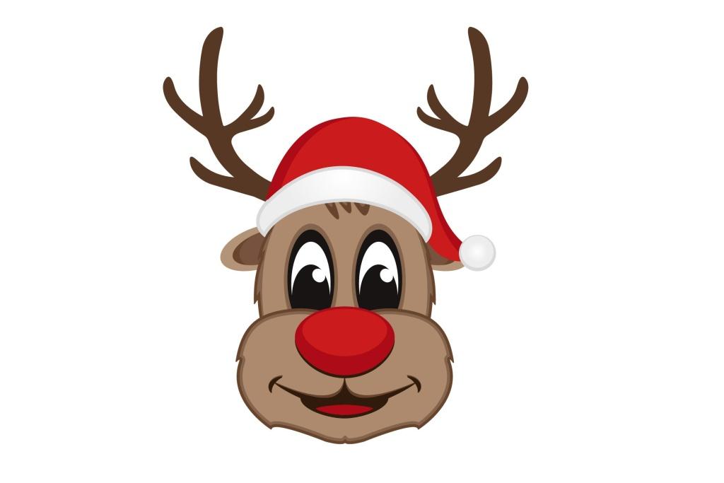 圣诞节吉祥物麋鹿矢量设计素材 Christmas Reindeer Vector Mascot插图