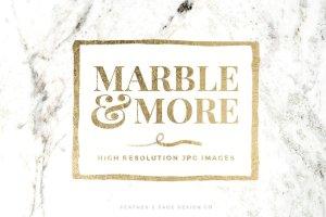 大理石&烫金锡纸纹理 Marble & More Backgrounds插图1