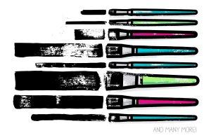 扁平笔头绘画笔画AI笔刷 AI flat paint brushes插图3