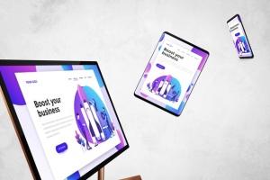 跨平台设计项目展示样机合集 Responsive Screens Mockup插图3