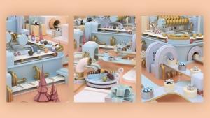 3D建模圣诞节主题概念工厂场景PNG素材 Christmas Factory插图12