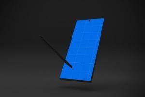 Note 10大屏手机屏幕预览样机模板 Dark Note 10 Mockup插图11