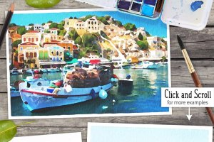 水彩插画效果PS图层样式 Watercolor Photo Effect Pro插图3