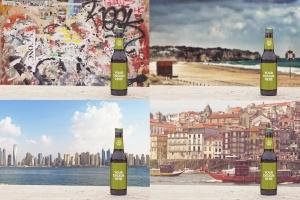 小瓶啤酒瓶外观设计样机模板 Stone Floor Beer Mockup插图3