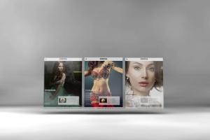 3D平板电脑屏幕网站设计演示样机 3D Tablet Screen Mockups插图6
