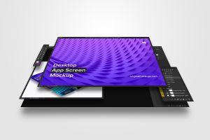 桌面应用程序设计屏幕预览样机01 Desktop App Screen Mockup 01插图3