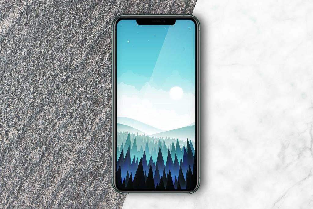 双色大理石背景iPhone手机样机模板 iPhone mockup插图