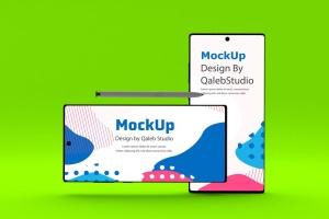 三星大屏手机Note 10屏幕预览样机模板 Note 10 Mockup插图7