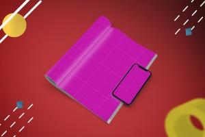 杂志印刷设计/杂志APP设计图预览样机样机 Abstract Magazine App Mouckup插图10