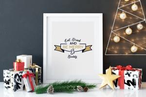 圣诞节主题T恤印花图案矢量设计素材 Christmas Designs Bundle. Vector TShirt Prints SVG插图3