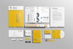企业品牌VI办公用品样机设计模板V3 Branding-Stationery Mockups V3插图5