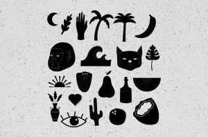 30+热带主题纹身/徽章矢量图形图案素材 30++ TROPICAL TATTOO VECTOR & BADGES插图3