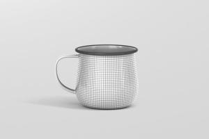 高分辨率圆形珐琅杯子样机 Round Enamel Mug Mockup插图12
