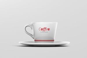高品质的咖啡马克杯样机展示模板 Coffee Cup Mockup – Cone Shape插图5