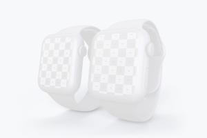 Apple Watch 4智能手表屏幕演示样机模板03 Clay Apple Watch Series 4 (44mm) Mockup 03插图2