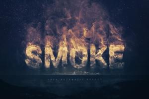 大气烟雾萦绕字体特效PSD分层模板 Smoke Logo Text Effect插图1