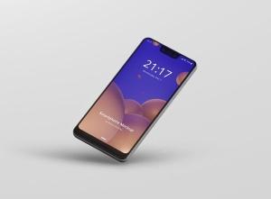 谷歌智能手机Pixel 3 XL屏幕预览样机模板 Smart Phone Mockup Pixel 3 XL插图5