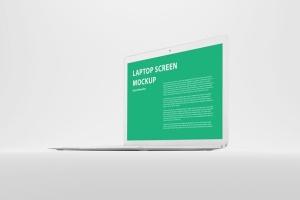 白色背景MacBook笔记本电脑演示样机 White MacBook Mockup插图6