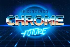 11款80年代复古文特效PS图层样式V3 80s Text Effect V3插图1